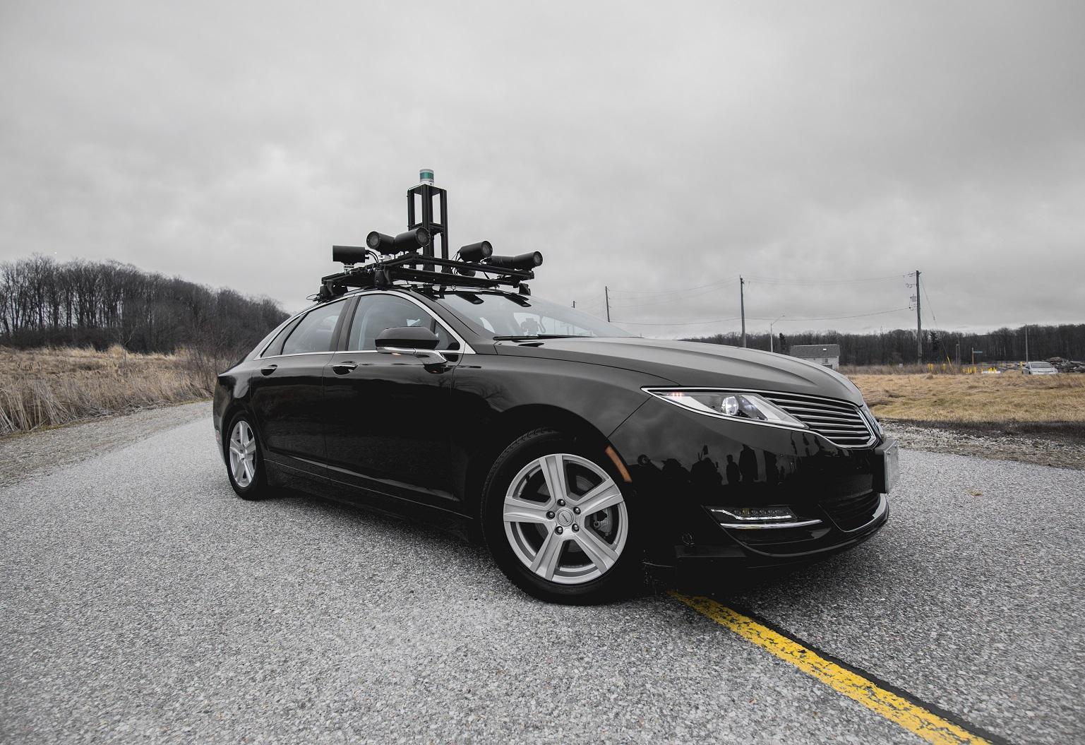 The Autonomoose self-driving car.