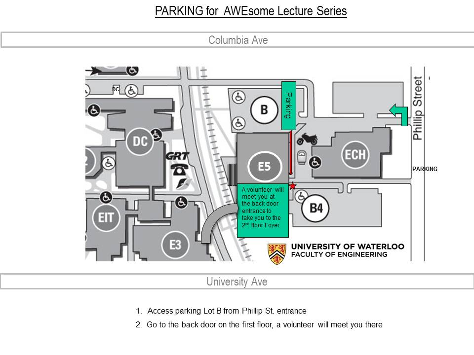 Map for Parking Lot B