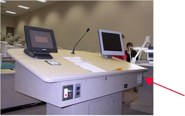 Podium with Computer and DVD player