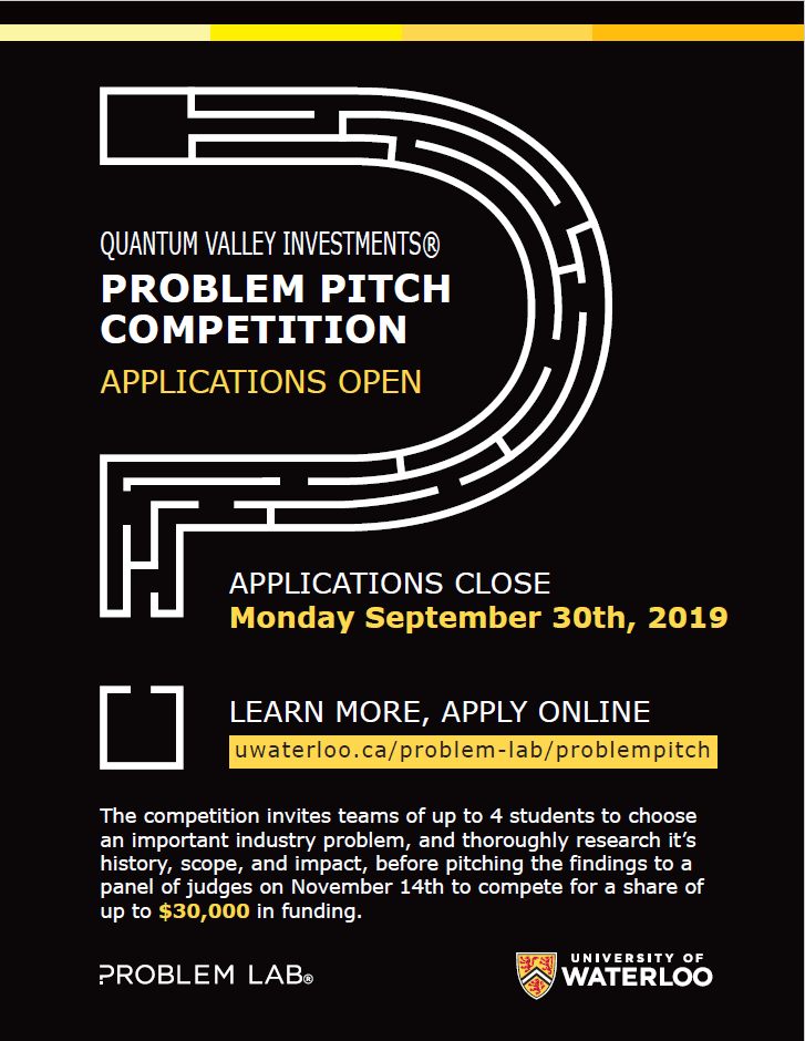 Problem pitch competition flyer