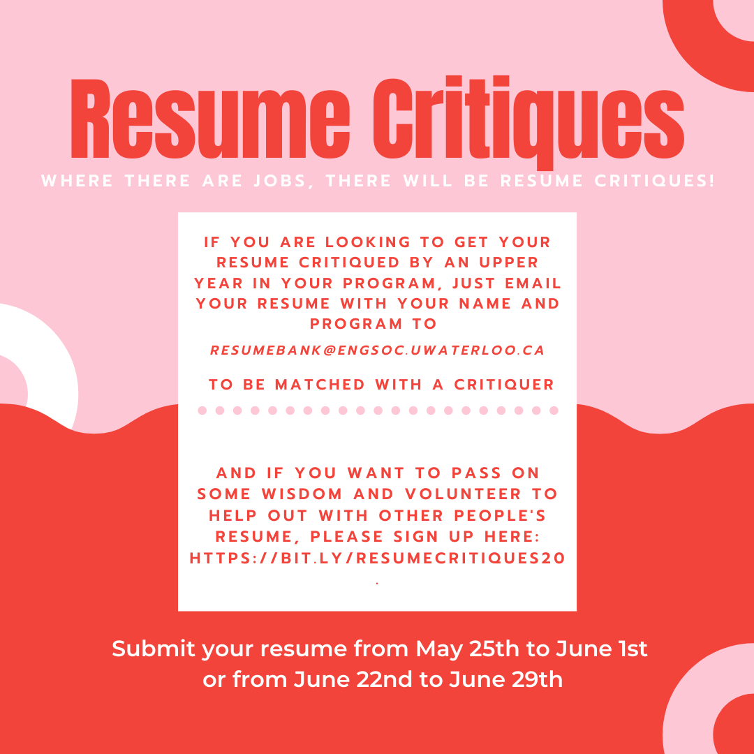 Resume Critiques