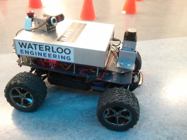 Autonomous robot built by Waterloo's Robotics Team.