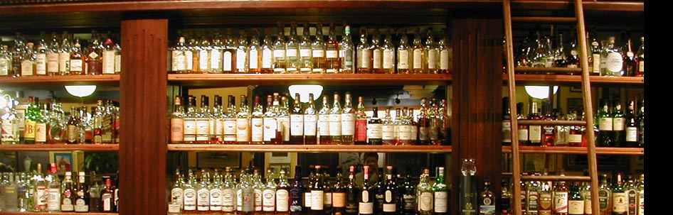Whiskey bar at Buchanan's, Calgary