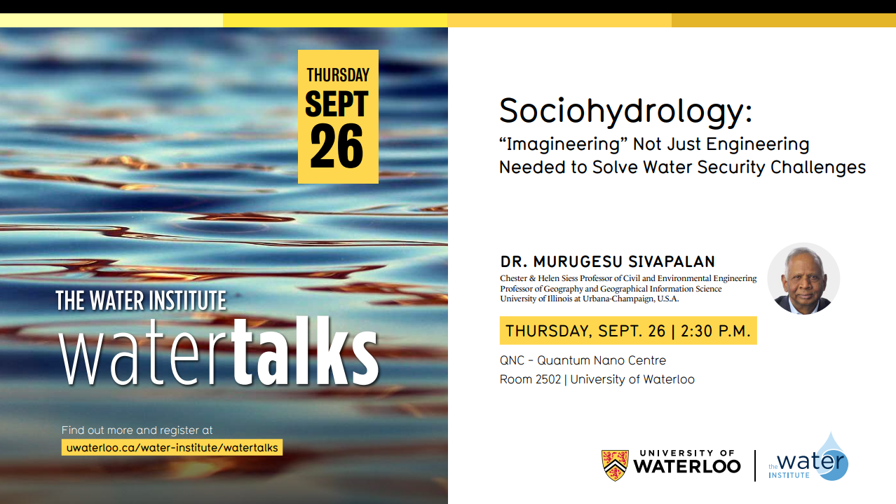Sociohydrology WaterTalk with Dr. Sivapalan