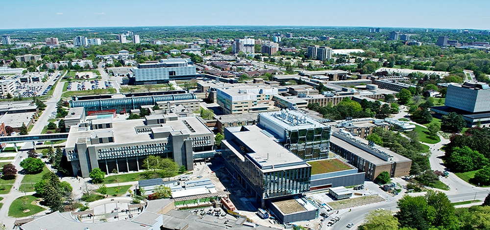Aerial image of University of Waterloo
