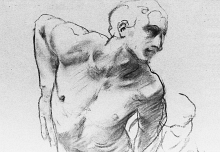 Life drawing of man