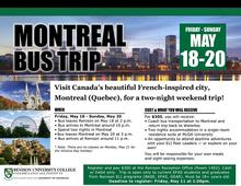 Montreal bus trip flyer