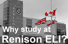 Why study at Renison ELI button