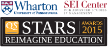Logo for Wharton QS Stars SEI Centre Reimagine Education Awards 2015
