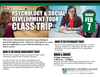 Psychology & Social development tour class trip poster