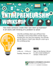 A poster for the entrepreneurship workshop