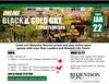 Black & Gold day flyer. This image contains a group of students wearing University of Waterloo clothing, and event details.