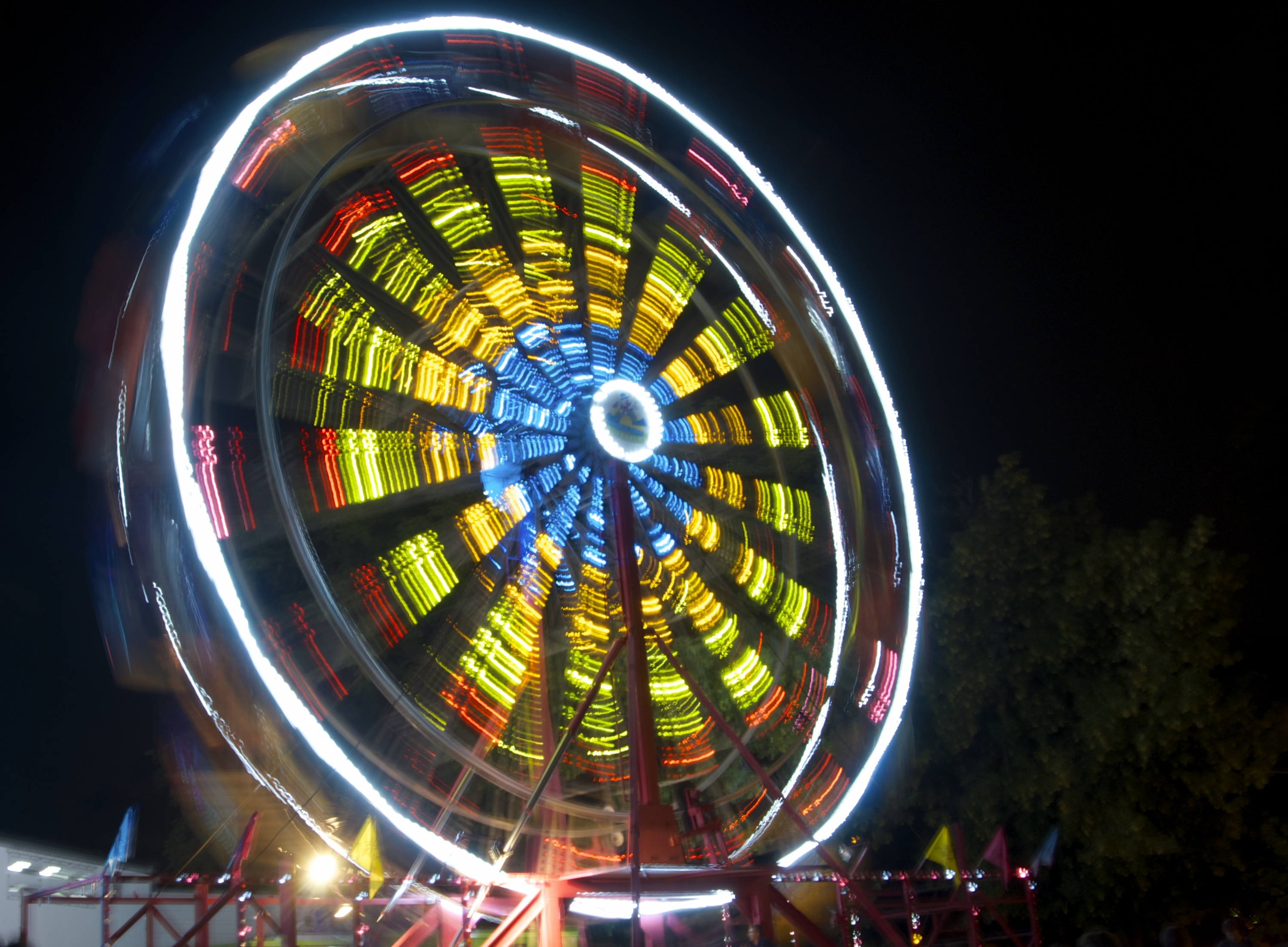 Ferris wheel at night.