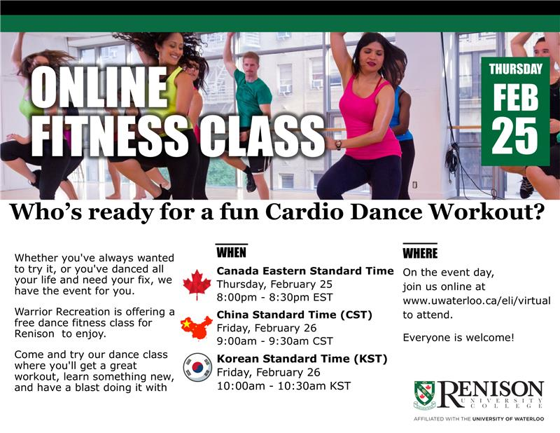 This is a flyer for Fitness fun hosted by Renison.