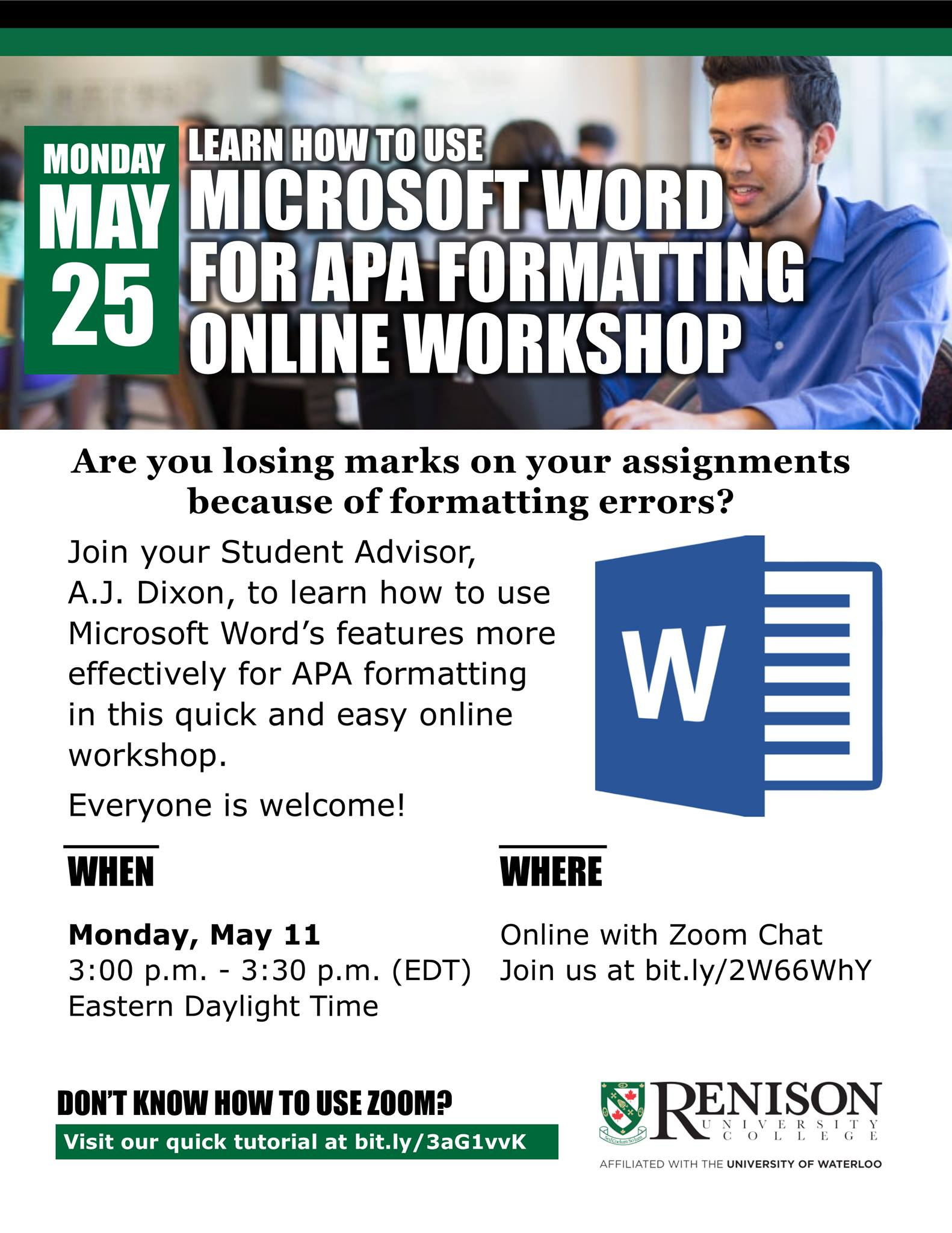 Using Microsoft Word For APA Workshop