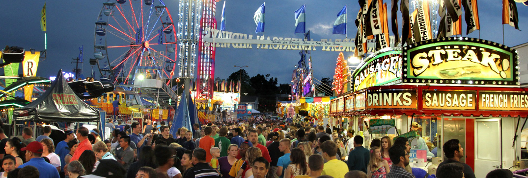 Busy Carnival at Night