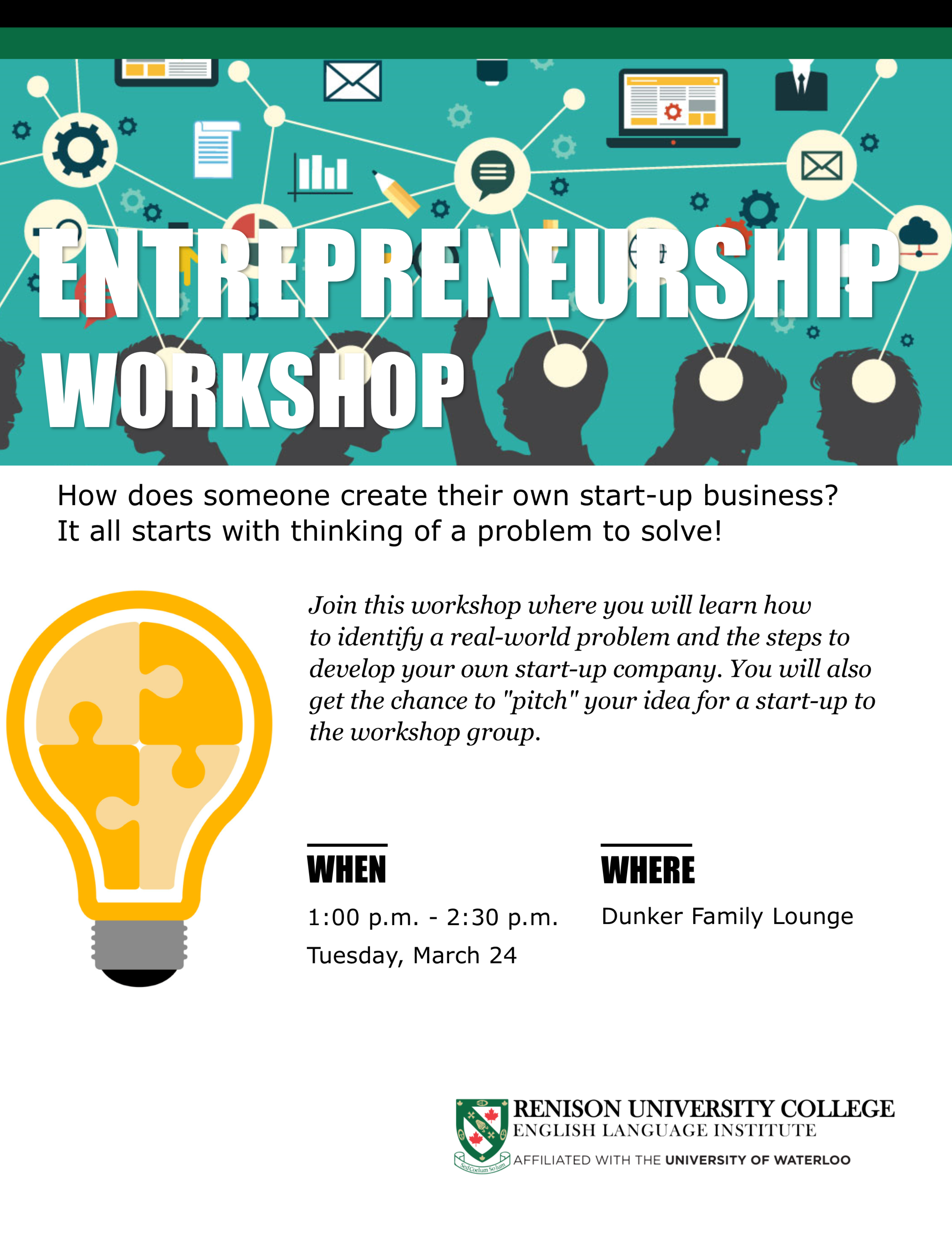 poster for entrepreneurship workshop