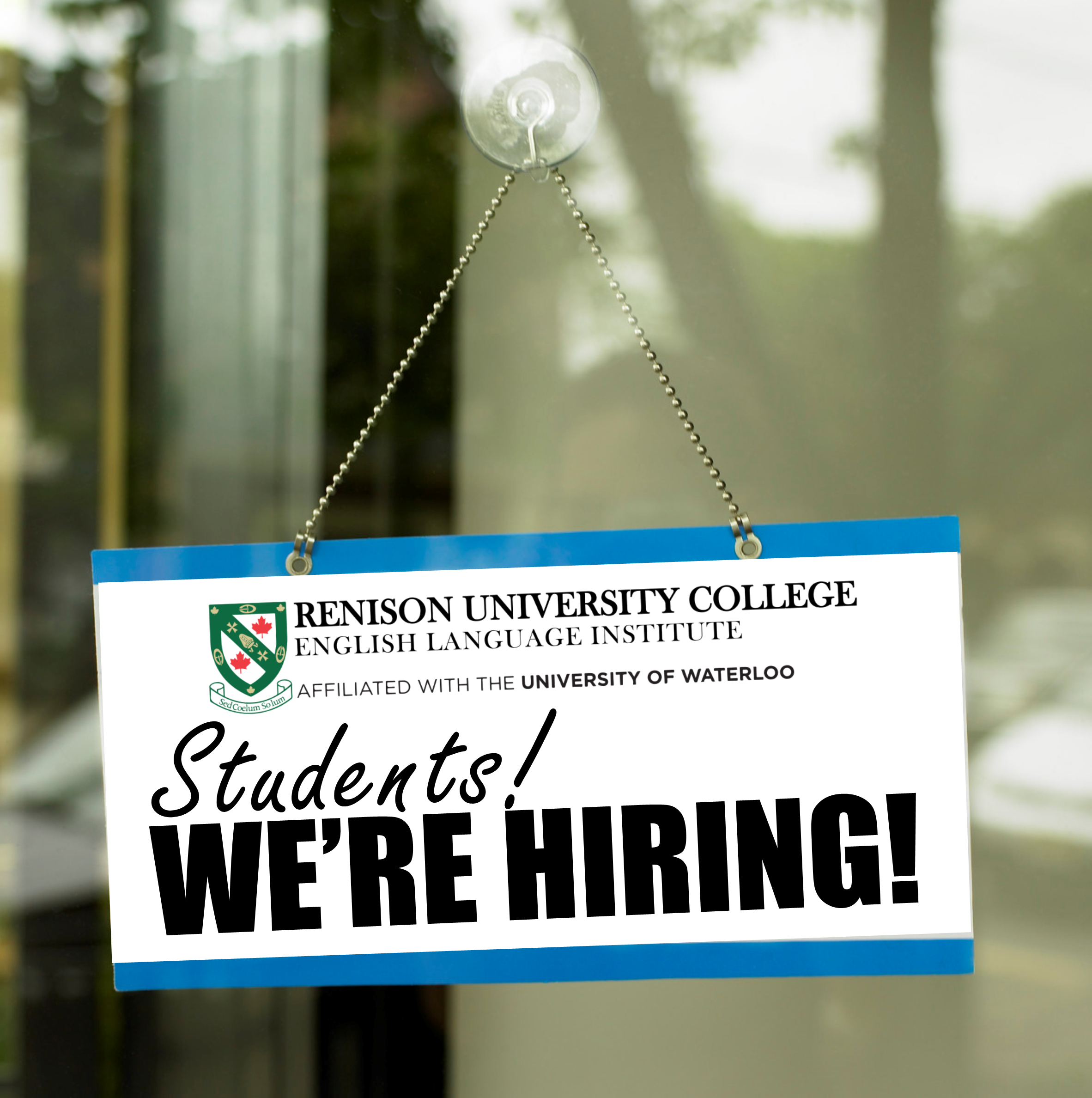 Students! We're hiring!
