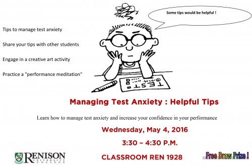 Managing Test Anxiety poster
