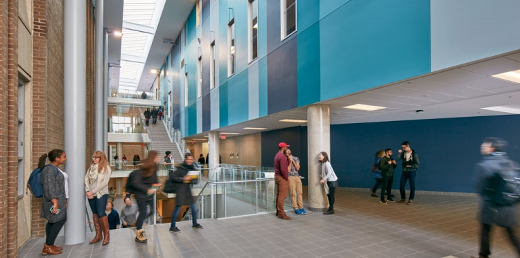 Science Teaching Complex atrium.