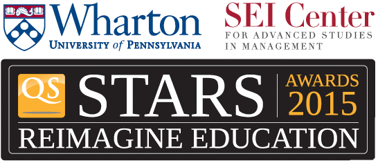 Logo for Wharton QS Stars Reimagine Education SEI Centre Awards 2015