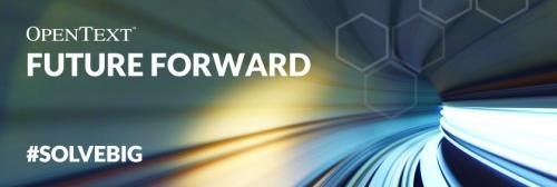 OpenText Future Forward banner.