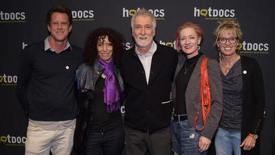 Photo of Aimee Morrison and others at Hot Docs premiere.