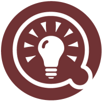 Icon of lightbulb inside of a speech bubble.