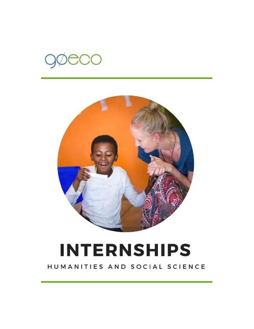 2018 Top Internships for Humanities and Social Sciences