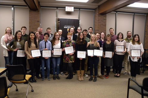 Photos of the English Department award winners, 2017-2018.