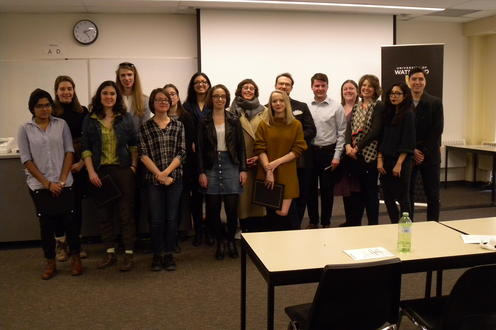 The 2019 UWaterloo English Department award winners.