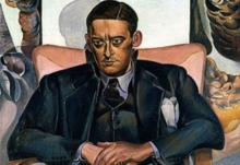 Painting of T. S. Eliot.