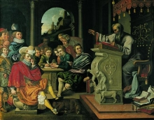 Painting of renaissance oration.