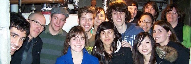 Photo of grad students.