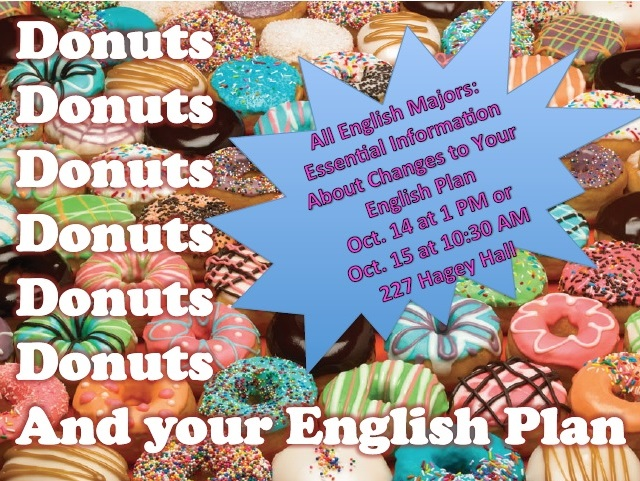 Image of donuts with event information.