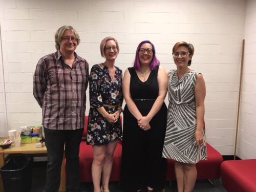 Emma Vossen with her committee members