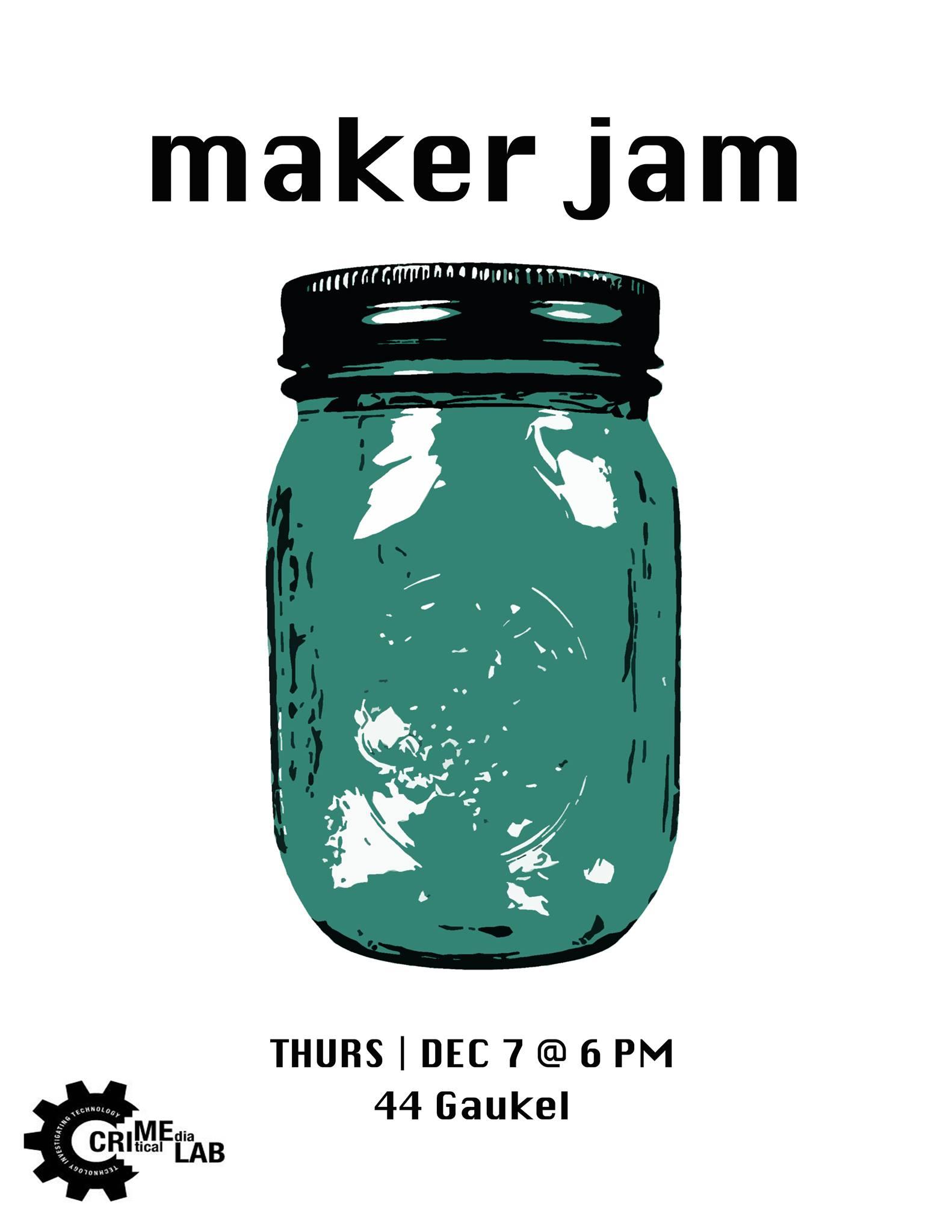 Maker jam poster