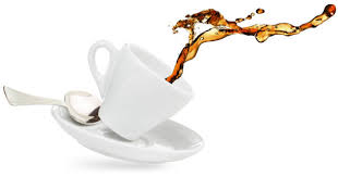 Tea spilling out of a cup.
