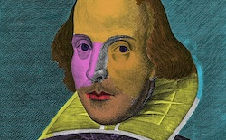 Painting of William Shakespeare by Andy Warhol.