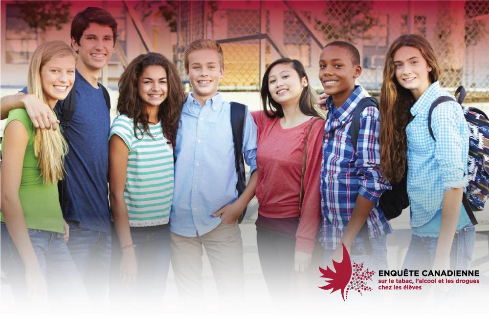 Logo l'enquête canadienne sur le tabac, l'alcool et les drogues chez les élèves (ECTADÉ)
