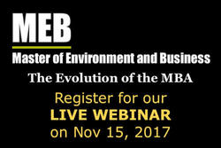 Master of Environment and Business - register for our live webinar on Nov 15, 2017.
