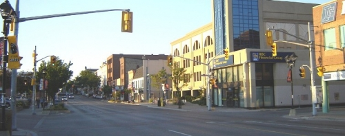 uptown waterloo during twilight
