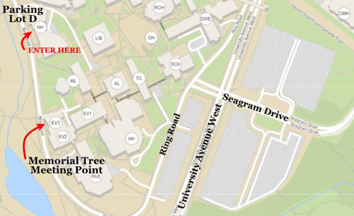 uwaterloo parking lot D map