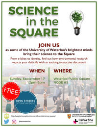 Science in the Square poster