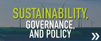 sustainability, governance and policy button