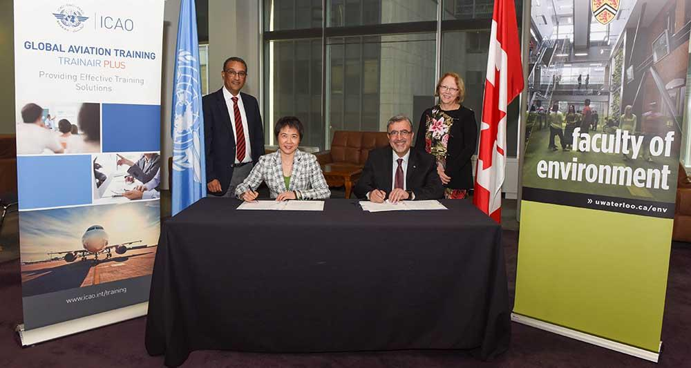 Dean Jean and Feridun joined by officials for the ICAO signing