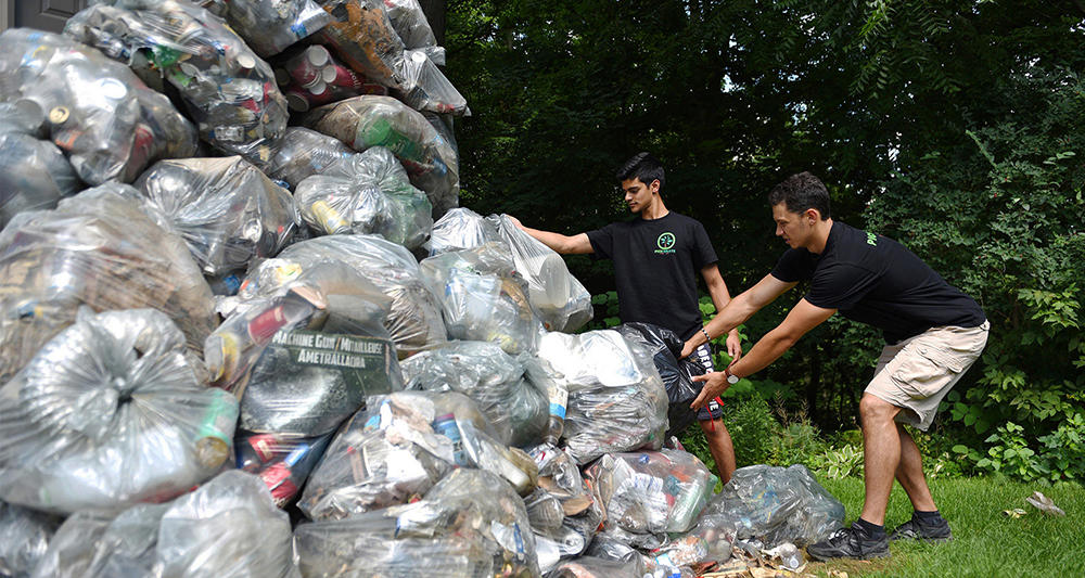 Two guys and some waste