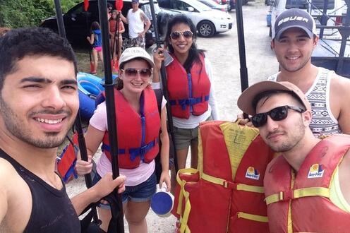 Planners go rafting