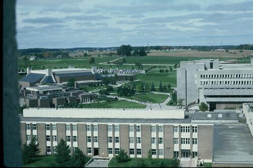 The view of North campus in 1977