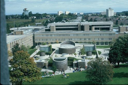 The view of South campus in 1977